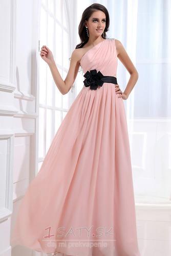 Šifón Emmy Bez rukávov Perla ružová Prírodné pása Družičky šaty - Strana 3