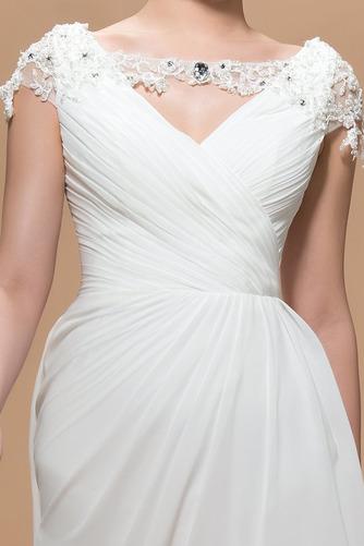 Krátke rukávy Elegantné Skladaný živôtik Čipkou Overlay Večerné šaty - Strana 4