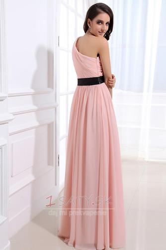 Šifón Emmy Bez rukávov Perla ružová Prírodné pása Družičky šaty - Strana 4