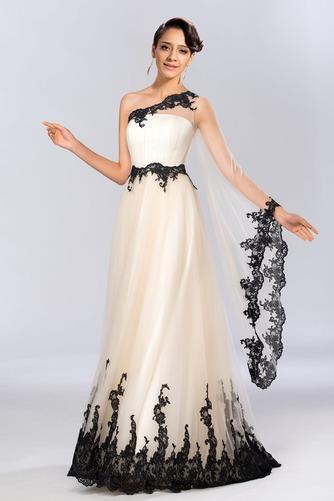 Jedno rameno Prírodné pása A-Riadok Členok dĺžka Večerné šaty - Strana 1