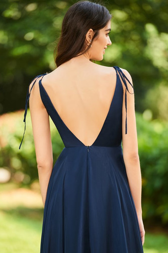 Šifón Bez rukávov Chýbať V krku Letné A Riadok Družičky šaty - Strana 5