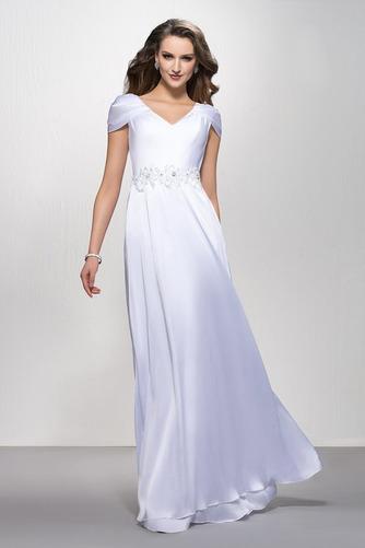 Elegantné Zamiesť vlak Pružina Limitovaný rukávy Večerné šaty - Strana 1