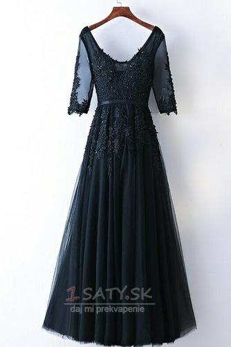 Čipkou Overlay Banket Ilúzia rukávmi Elegantný Družičky šaty - Strana 7
