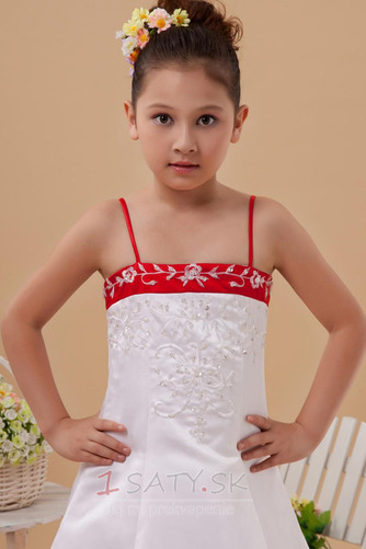Tenký Satén Zlatý glóbus Sála Pružina Výšivka Kvetinové šaty - Strana 5