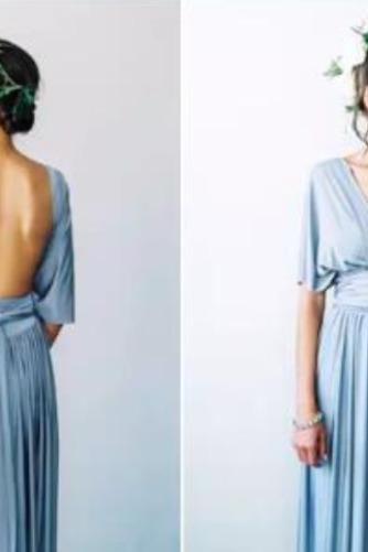 S hlbokým výstrihom Šifón Chýbať V krku Elegantné Družičky šaty - Strana 8