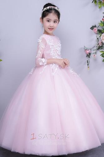 Tyl Prírodné pása Členok dĺžka Formálne Dovolenka Kvetinové šaty - Strana 1