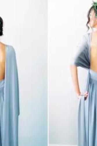 S hlbokým výstrihom Šifón Chýbať V krku Elegantné Družičky šaty - Strana 6