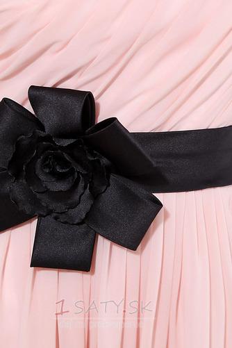 Šifón Emmy Bez rukávov Perla ružová Prírodné pása Družičky šaty - Strana 7