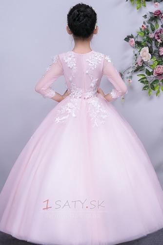 Tyl Prírodné pása Členok dĺžka Formálne Dovolenka Kvetinové šaty - Strana 2