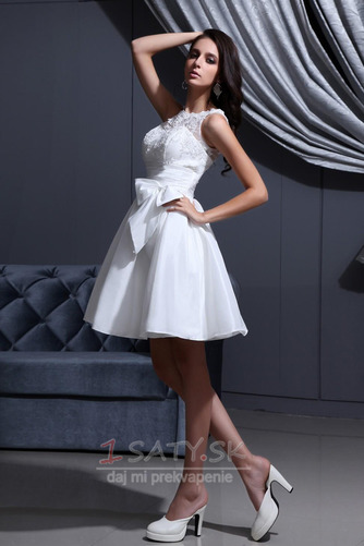 Čipka Chýbať Prírodné pása Široký plytký výstrih Svadobné šaty - Strana 3