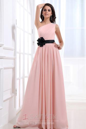 Šifón Emmy Bez rukávov Perla ružová Prírodné pása Družičky šaty - Strana 1