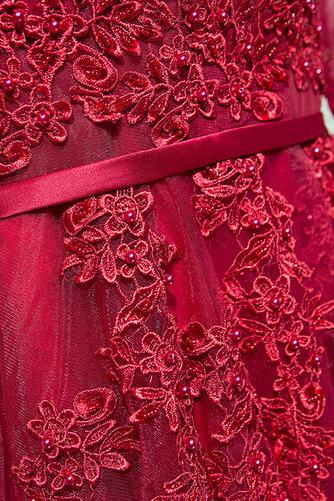 V krku Hruška Čipkou Overlay Klasický Služkinja obleko časti - Strana 3