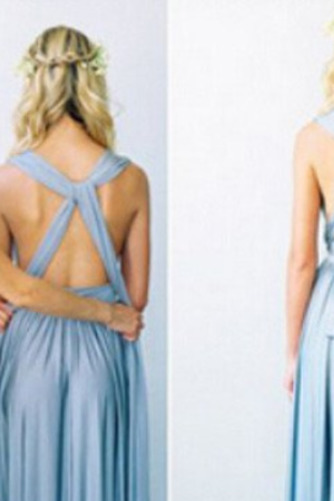 S hlbokým výstrihom Šifón Chýbať V krku Elegantné Družičky šaty - Strana 10