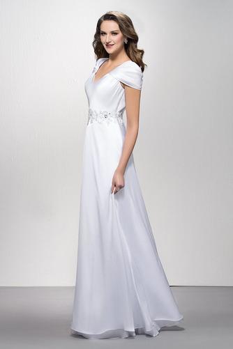 Elegantné Zamiesť vlak Pružina Limitovaný rukávy Večerné šaty - Strana 3