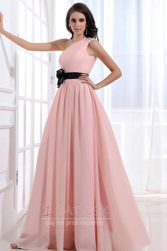 Šifón Emmy Bez rukávov Perla ružová Prírodné pása Družičky šaty - Strana 2