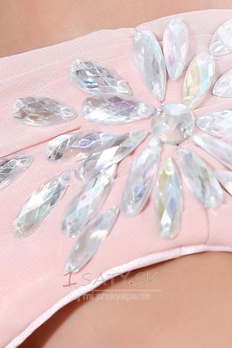 Šifón Emmy Bez rukávov Perla ružová Prírodné pása Družičky šaty - Strana 8