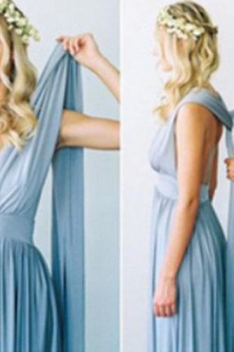 S hlbokým výstrihom Šifón Chýbať V krku Elegantné Družičky šaty - Strana 9