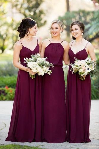 Šifón Pružina A Riadok Zdvihnúť Svadobné Elegantný Družičky šaty - Strana 1