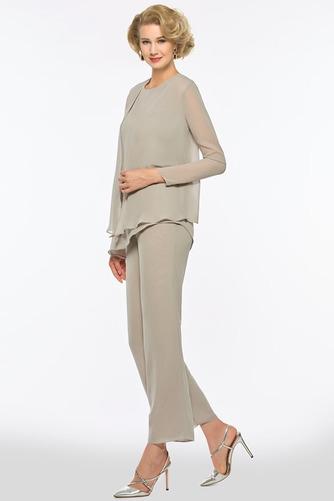 Kaskádové Šperk S nohavice Pružina Šifón Oblek na nohavice Matné šaty - Strana 3