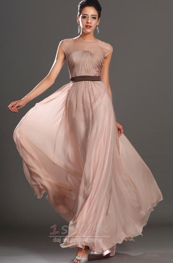 c1e68004f6e9 Šifón Tyl prekrytie Zvrásnený Šperk Elegantný Letné Večerné šaty - Strana 1  ...