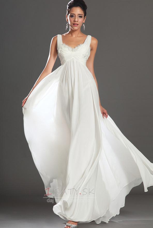 Bez rukávov Skladaný živôtik Biela Členok dĺžka Večerné šaty - Strana 1 ... 5e2c13cc47
