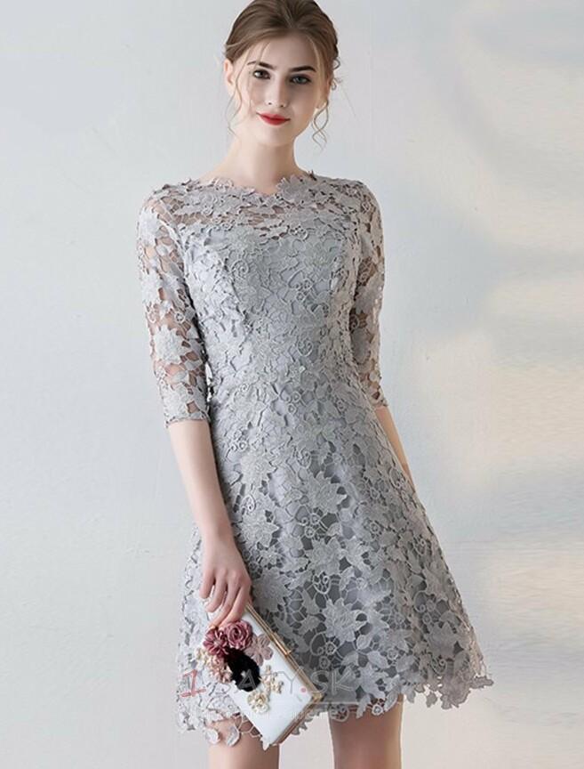 98e438fbe8a1 Lopta Tenké Prírodné pása Elegantné Zimné Čipka Koktejlové šaty - Strana 1  ...