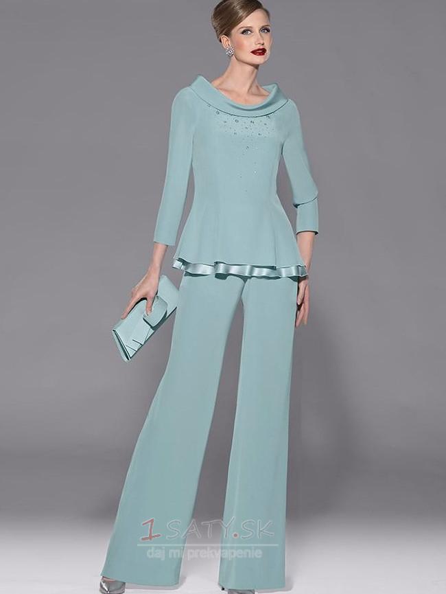 9ba41859e5dd Tričko Šifón Elegantné S nohavice Širokým hrdlom Matka šaty obleky - Strana  1