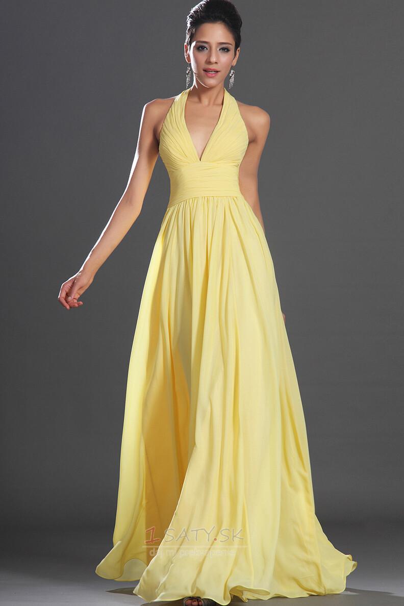 Prírodné pása Ríša Skladaný Svetlo žltá Šifón Drobunký Večerné šaty -  Strana 1 ... 08da4a3fe7d