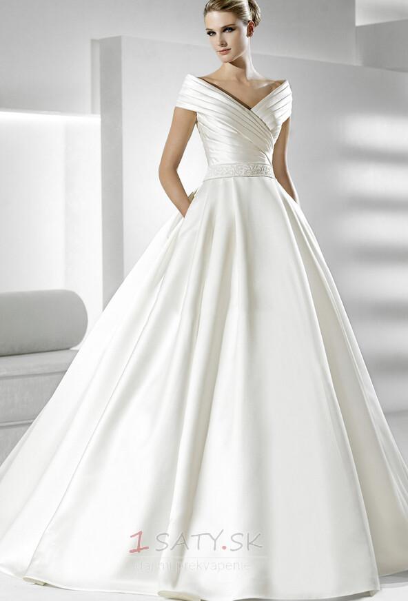 Ríša Elegantné Limitovaný rukávy Kaplnka vlak So závojom Svadobné šaty -  Strana 1 ... ac27e7103e2