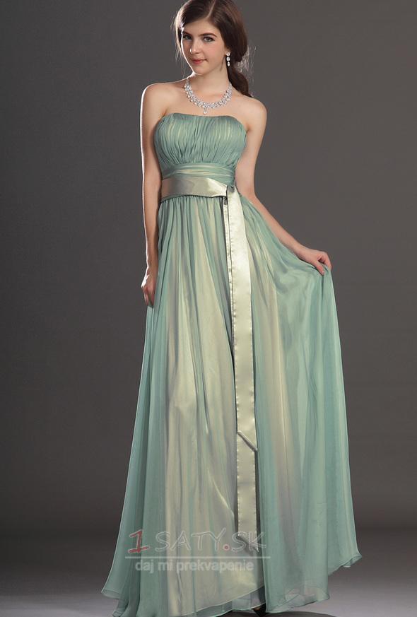 Pružina Elegantné Skladaný živôtik Zips hore Šifón Večerné šaty - Strana 1  ... 9cac99866d3
